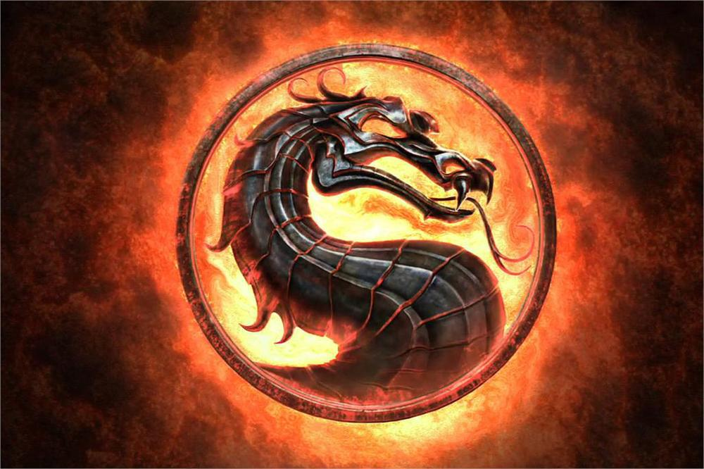 video games Mortal Kombat logo Fabric silk art game poster print home Decorative 24x36inch(China (Mainland))