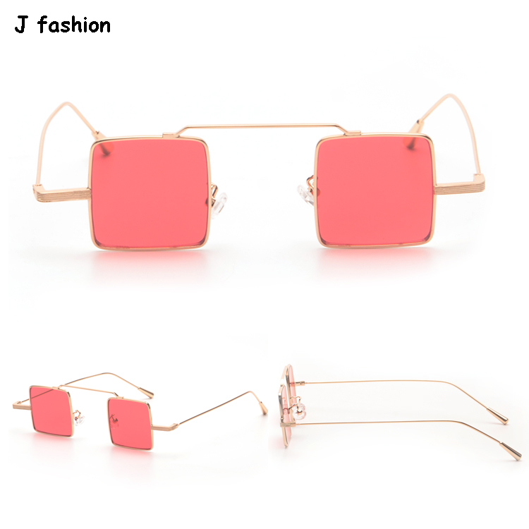 J fashion 916 small red square sunglasses punk sun glasses funny unisex hipster occhiali da sole lunettes oculos de sol gafas(China (Mainland))