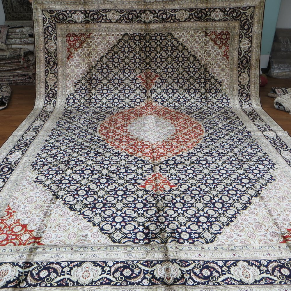 Factory price with fine quality more handmade silk carpet for 10 x 14 living room