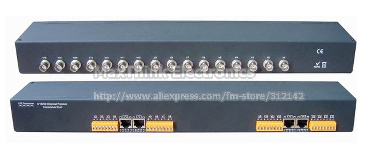 16CH Passive Video Balun UTP for CCTV, BNC Balun Connector For CCD Camera .Rack Mount ,RJ45 +Terminal Block, Free Shipping(China (Mainland))