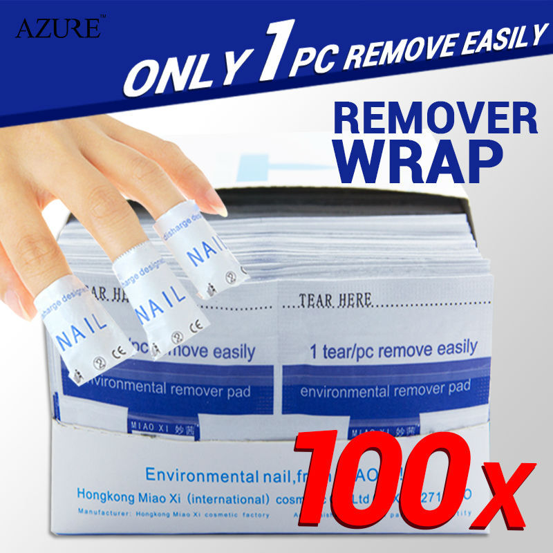 Easy nail cleaner 100Pcs/lot gel polish Lacquer gel nail Wraps UV Gel Remover Nails Care tools nail remover remover wraps(China (Mainland))