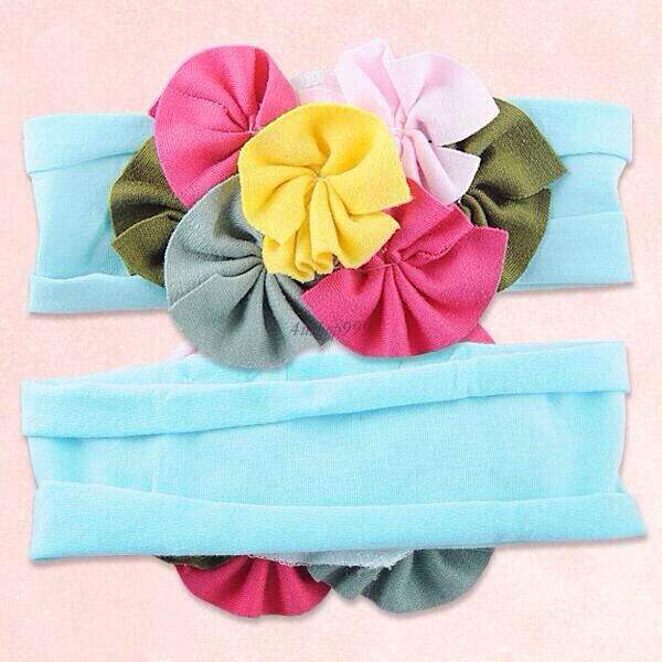 2015 American Style Flower Baby Girl Headband Girls Head wear Free Size Hair Accessory 10 Pic/ Lot Wholesale!(China (Mainland))