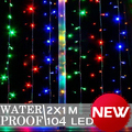 16pcs 5-Pointed Stars 104 LED Curtain Light 2x1m Party Wedding Xmas Hotel L077(China (Mainland))