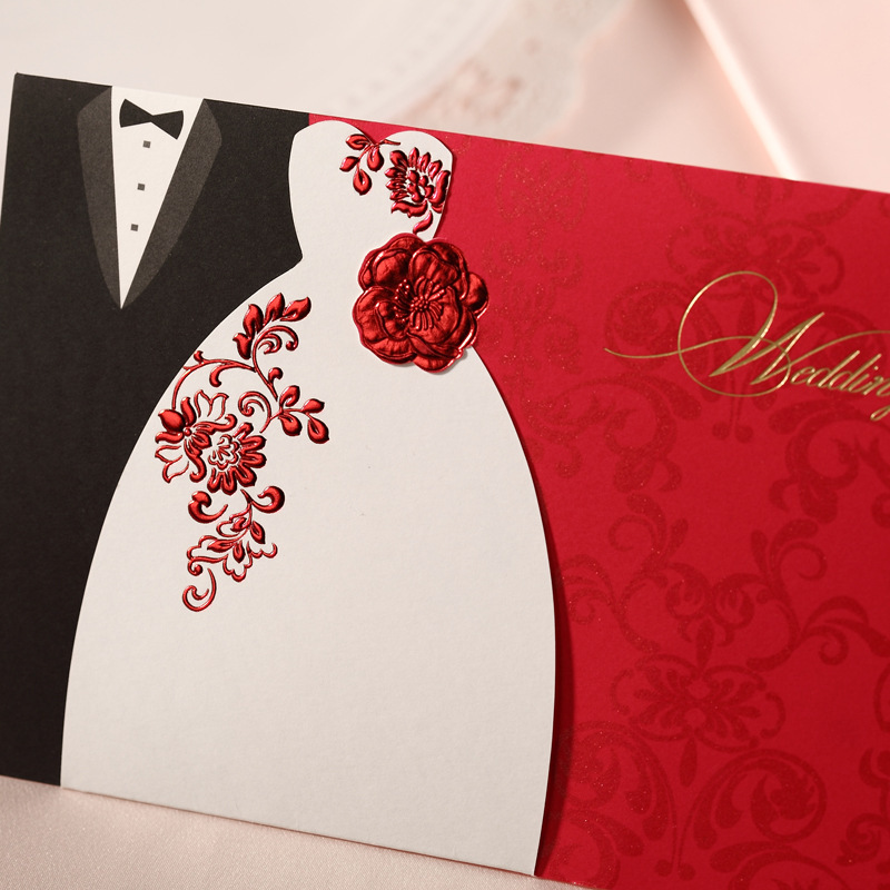 Wedding Invitation Cards Samples Red ~ Yaseen for .