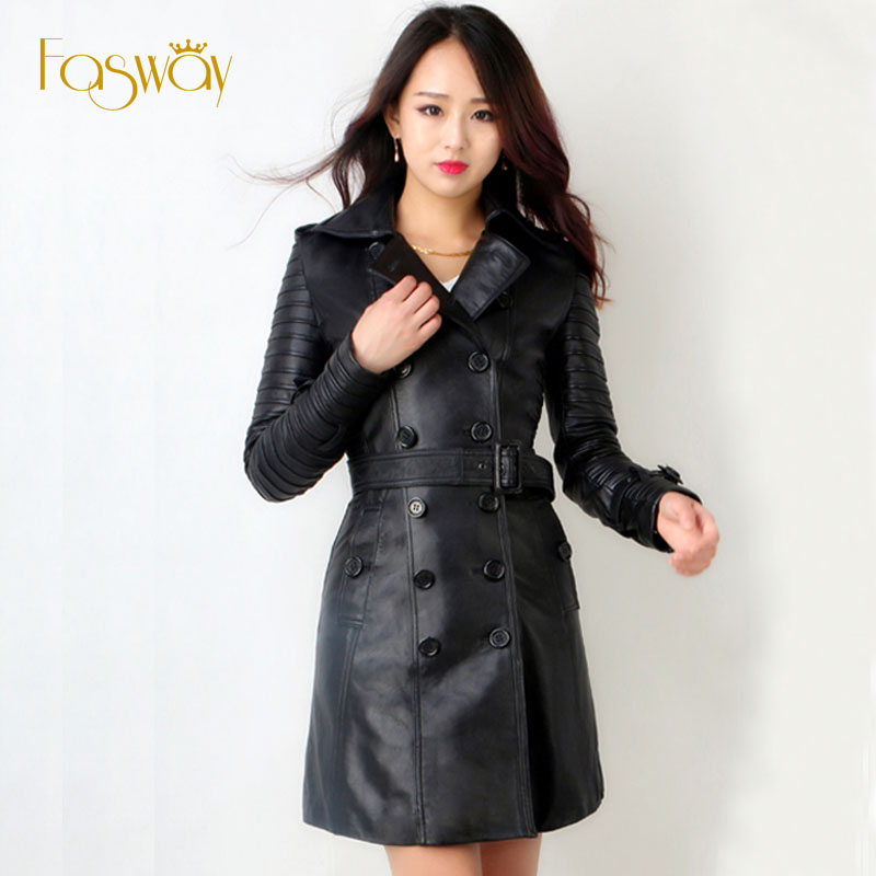 Long Leather Coat Women