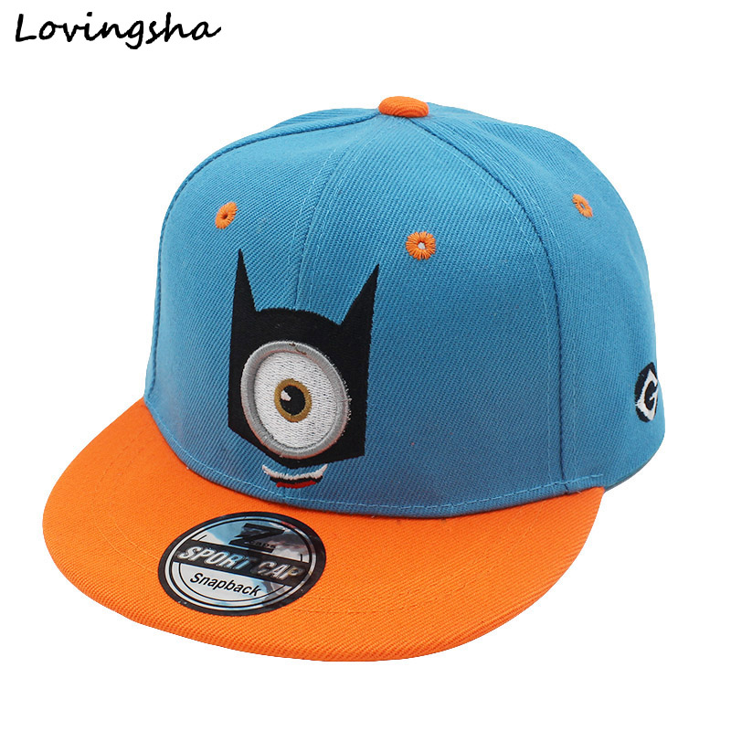 Fashion Boy Baseball Caps For 3-8 Years Old Children Minions Design Snapback Caps High Qaulity Adjustable Cap For Girl CC044(China (Mainland))