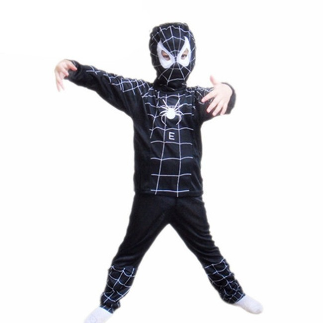 Hot Sale Red Black Spider Outfit Spiderman Costume Kids Party Cosplay Good Baby Halloween Gift MX046
