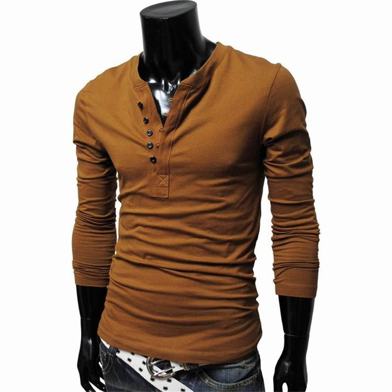 2015 New Autumn Fashion Brand Mens Long Sleeve T Shirt