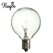 Excellent Quality Kingso E12 G40 5W 7W Non Dimmable Transparent Incandescent Bulbs Clear Light Warm White Lamp 110V(China (Mainland))