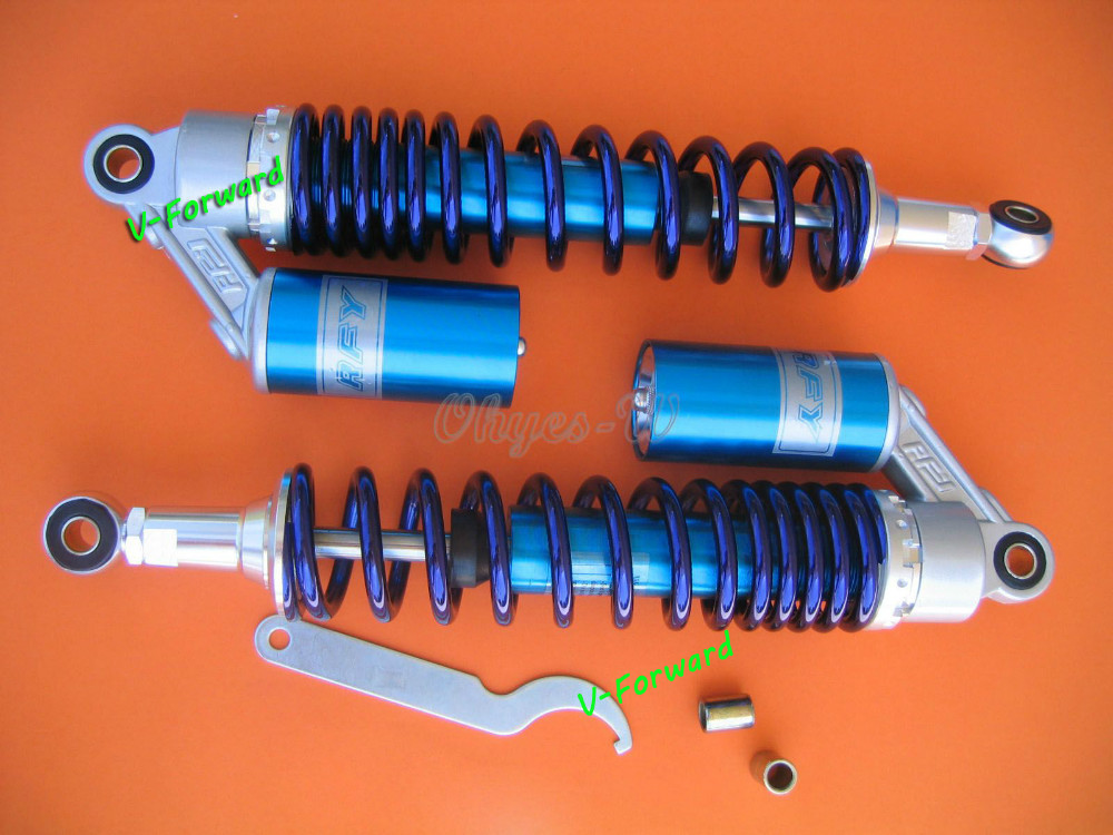 Blue 375MM RFY air gas Shock Absorber Fit to 50cc,75cc, 90cc, 125cc, 150cc, 250cc, 300cc quad Dirt bikes,Gokart,ATV,motorcycle(China (Mainland))