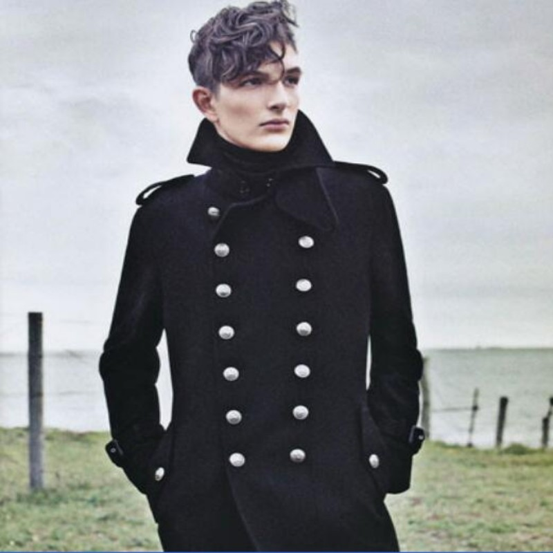Mens Wool Military Long Coat Promotion-Shop for Promotional Mens