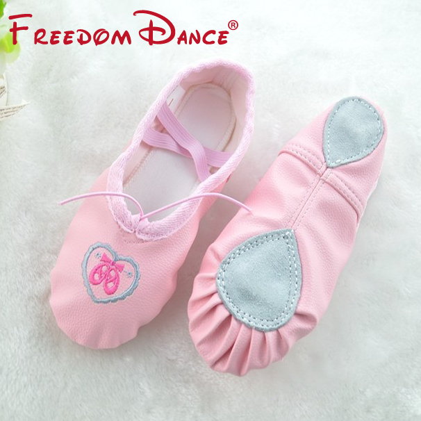 Discount Limited Quantity Girls Women Leather Fabric Soft Split Outsole Ballet Dance Shoes Toe Shoes Children Fitness Shoes(China (Mainland))