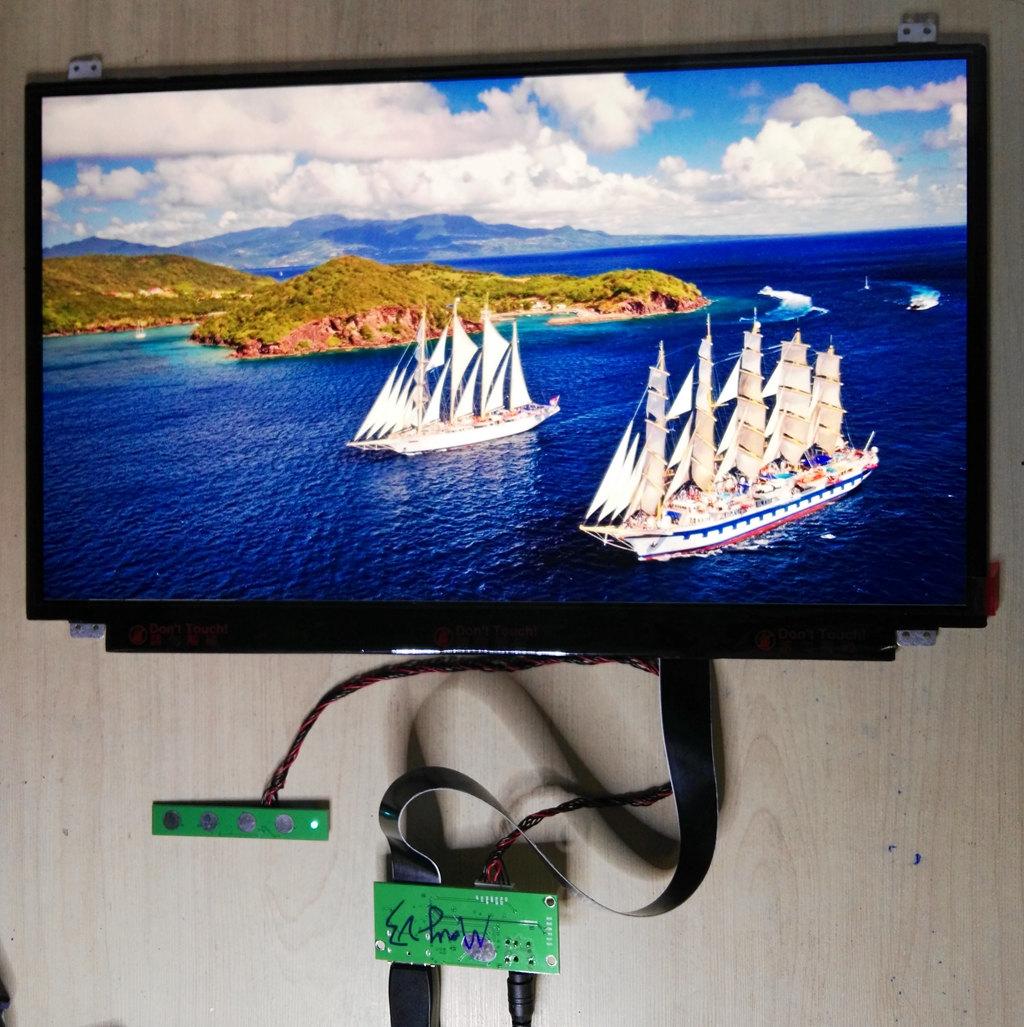 17.3 Inch 3840*2160 4K 100% NTSC New Original UHD IPS Display DisplayProt DP Driver Board LCD Module Screen Monitor Laptop PC(China (Mainland))