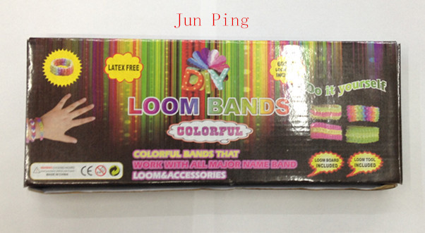 1 set Rubber Fun Loom Band Kit Kids DIY Bracelet Silicone Looms Bands color box Set Refills - junping rubber bands factory store