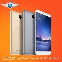 Original Xiaomi Redmi Note 3 FDD Cell Phone MTK Helio X10 Octa Core MIUI7 Fingerprint Metal Body 5.5'' 2GB RAM 16GB ROM 4000mAh(China (Mainland))