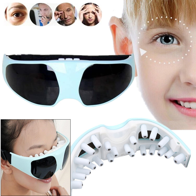 Batteries Magnetic Eye Massager Electric Vibration Stress Release Anti-myopia Fatigue Prevention Instrument Eye Care Relaxtion(China (Mainland))