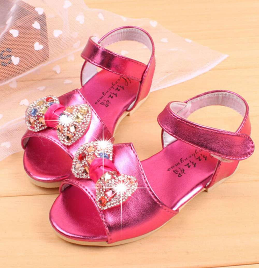 2016 new Summer style Kids Crystal sandals for kids girls ...
