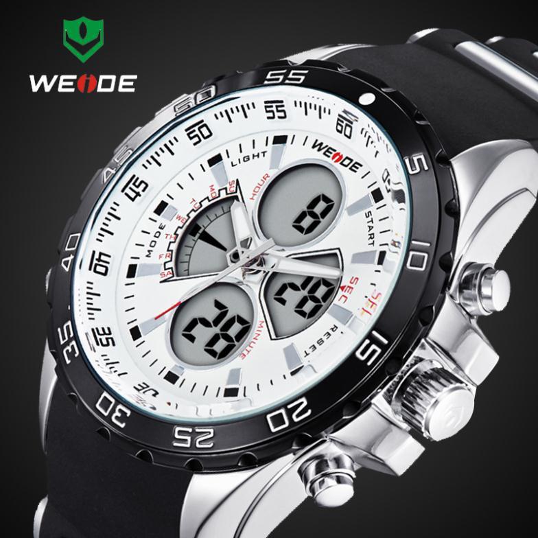 2016 New WEIDE Fashion Led Digital Quartz Watches Men Military Sports Watch Waterproof Male Wrist watches Relogio Masculino(China (Mainland))