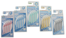 Free Shipping High Quality wholesale price 1set/5pcs Interdental Brush 0.7mm Toothbrush Floss High Strength Brush Long Handle #2(China (Mainland))