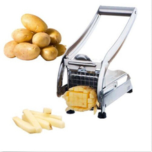 Stainless Steel French Fry Cutter Potato Vegetable Slicer Chipper Dicer 2 Blades(China (Mainland))