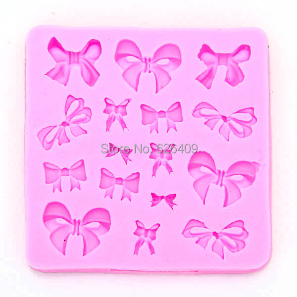 2015 Soft Silicone Fondant Decorating Bowknot Modelling Cake Mold Mould Baking Tools - Beauty Life store