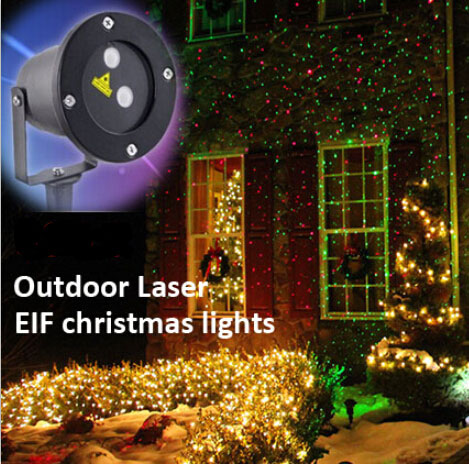 Outdoor elf christmas lights red green static effect ip65 for Lumiere de noel exterieur