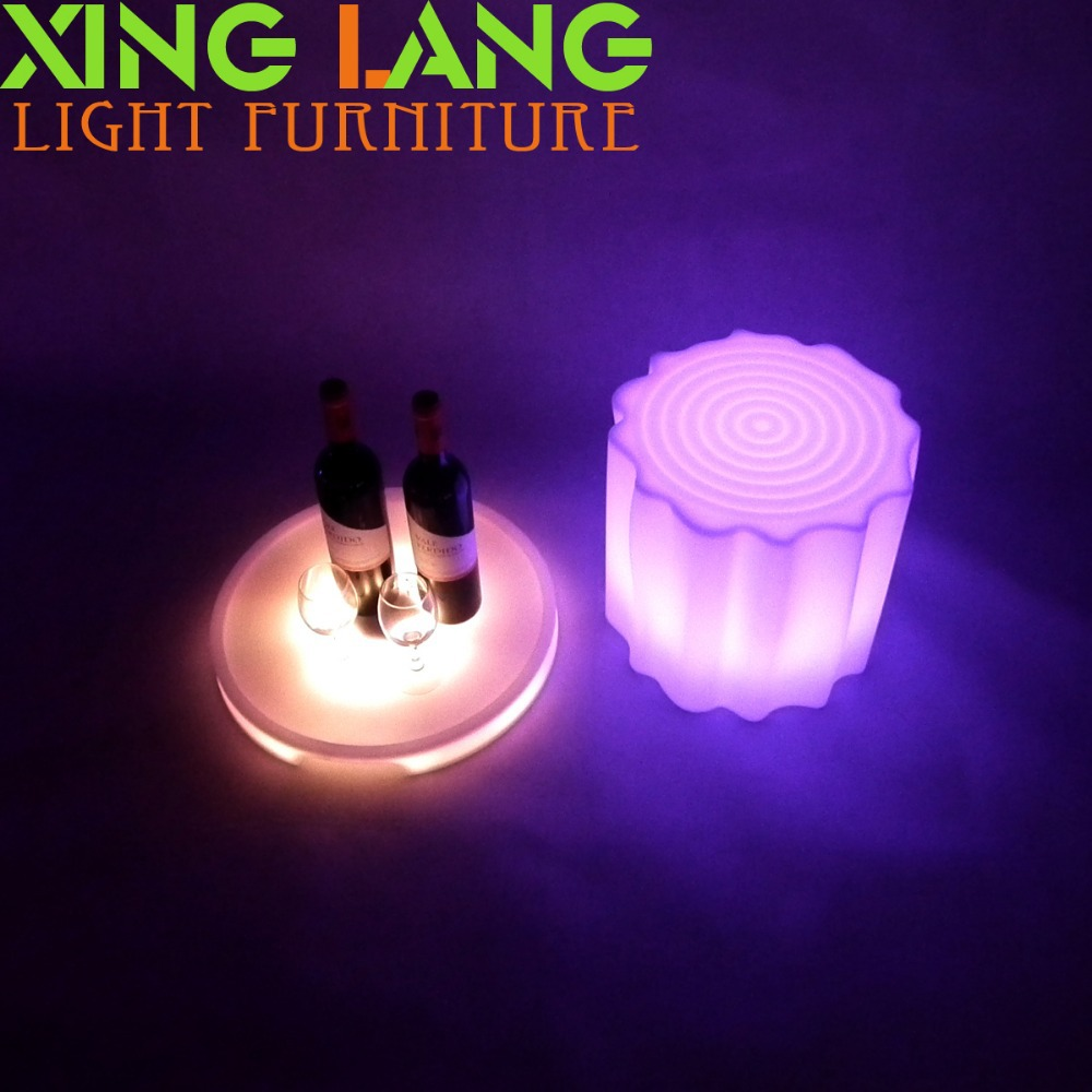environment friendly RGB rechargeable stump stool for parties(China (Mainland))