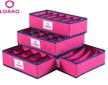 New hot 4 in 1 per set foldable storage box bag home organizer box bra,underwear,necktie,socks storage organizer case snh35(China (Mainland))