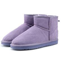 MBR kuvveti yüksek kaliteli avustralya marka kış kadın kar botları inek bölünmüş deri ayak bileği ayakkabı kadın Botas Mujer büyük abd 3-13(China)