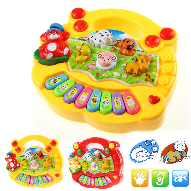 Baby Kids Animal Farm Educational Child Early Musical Piano Toy Developmental Hot Top Sound Good Mini learning(China (Mainland))
