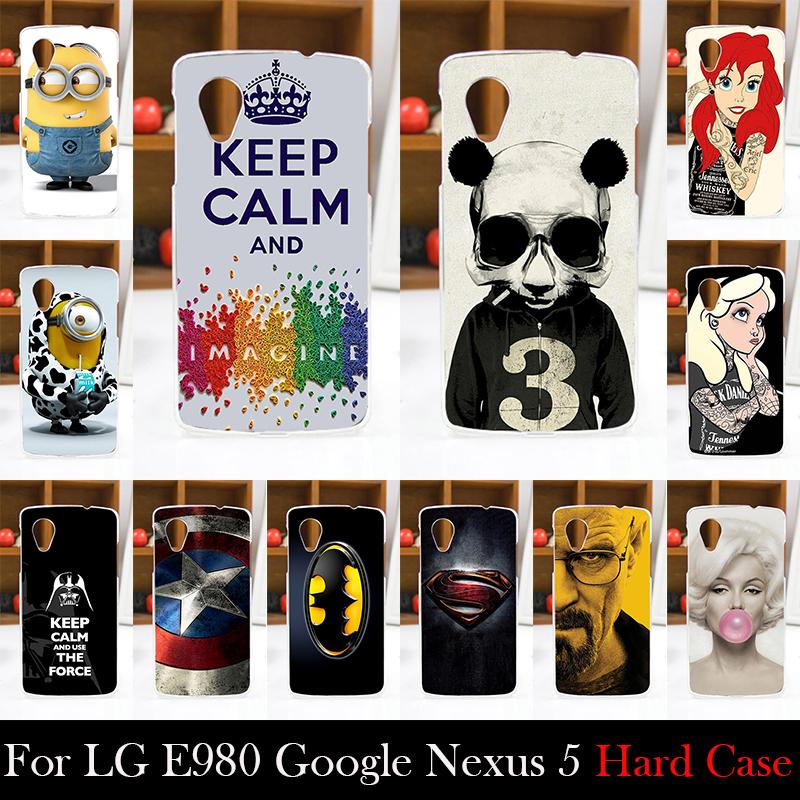 FOR LG E980 Google Nexus 5 Hard Plastic Mobile Phone Cover Case DIY Color Paitn Cellphone Bag Shell Shipping Free(China (Mainland))