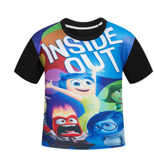 Inside Out Shirt Kids Clothes Boys T Shirt Girls Tops Short Sleeve Cartoon Children Clothing Summer Baby Boys T-shirt 2016