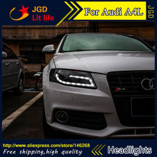 Buy Free shipping ! Car styling LED HID Rio LED headlights Head Lamp case for Audi A4L 2009-2012 Bi-Xenon Lens low beam for $683.10 in AliExpress store