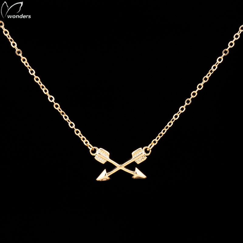 crossed arrows necklace simple gold silver navajo jewelry<br><br>Aliexpress