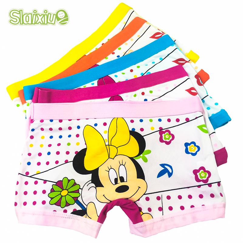 5 Pcs/Lot Hot Sell Cotton Cartoon Kids Girls Underwear Cute Pattern Children's Boxer Kid Panties Underpants Baby Clothes Briefs(China (Mainland))