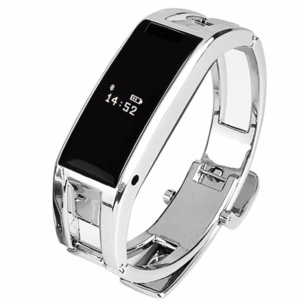 Bluetooth bracelet D8 Full steel Smart Bracelet Sync phone LED DigitalWatch with Vibrate can answer phone for Smartwatch(China (Mainland))