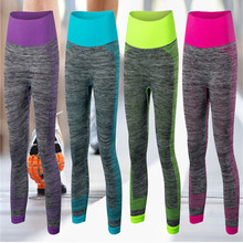 4 Colors 2016 Spandex High Elasticity Dry Fit Cropped Sports Pants Women Fitness Running Leggings GYM Trousers