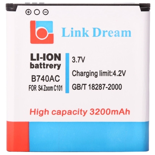 B740AC 3200mAh High Capacity Business Battery for Samsung Galaxy S4 Zoom C1010 C101 Rechargeable Lithium-ion Battery