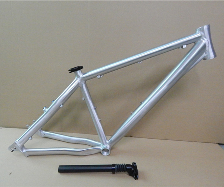 hot sale aluminum alloy mountain bicycle frame 26 1618 inch polish drawing without