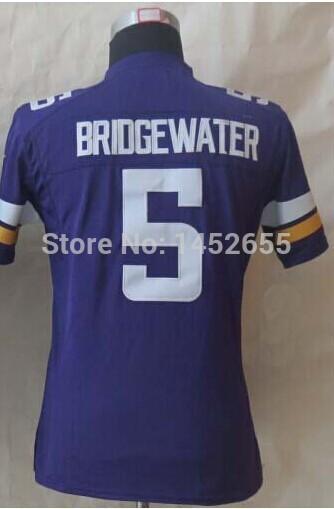 Best quality#5 Teddy Bridgewater Jersey,Kids/Youth Football Jersey,Best quality,Authentic Jersey,Wholesale Price