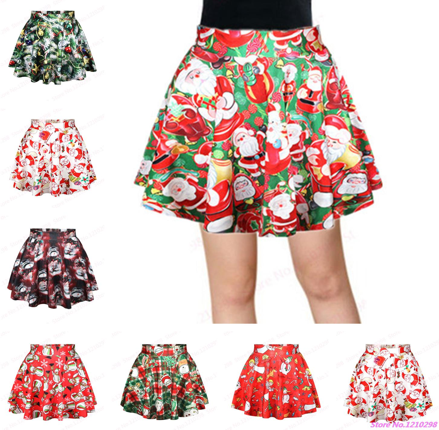 New Christmas Tree Short Leisure Tennis Skirts Clothing Pettiskirt Sport font b Kilts b font Summer