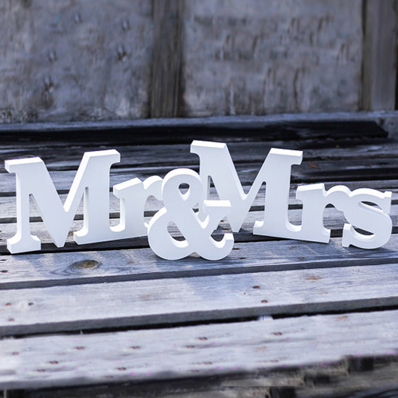 3 pieces a lot mr mrs wedding sign large letters wedding party decoration for table sweet home decor party supply