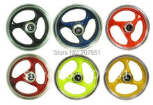 Front and Rear Wheel Set in various colors for 150cc ad 125cc GY6 engine based sport style scooter models Blue,Red, Green,Yellow(China (Mainland))