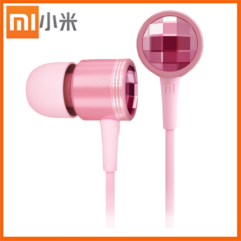 Xiaomi highest level Headphones 3.5mm Swarovski Crystal Earphone Headphone Ears Headset For Universal phones Wired Earphones(China (Mainland))