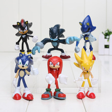 Buy 6pcs/set 5-8cm Sonic Hedgehog Sonic Shadow Tails Knuckles PVC Action Figure Collectible Model Toys for $7.52 in AliExpress store