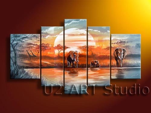 Abstract Group paintings,reproduction,handicraft,ornament,craft,painting for living room GP19(China (Mainland))