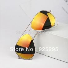 Hot Sale Summer Style Women Sunglasses Metal Frame Reflective Eyewear Spectacles Colorful Lens Gafas De Sol