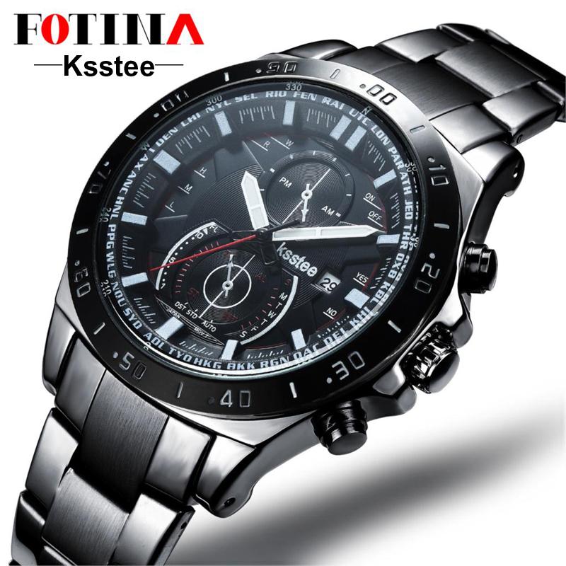 Casual 2016 Luxury Black Watch Men 20mm Stainless Steel Watchband Montre Homme Digital Quartz-Watch For Man Male Wristwatches