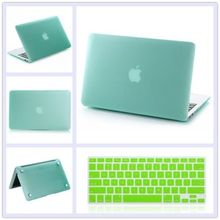 12 Colors 2in1 Rubberized Hard Cut-out Case Laptop Shell Cover + Keyboard Cover For Macbook pro 15 with Retina A1398 with logo