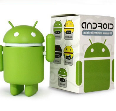 Cute Green/White Google Android Robot Doll Car Ornaments Counter Birthday Gift Free Shipping(China (Mainland))